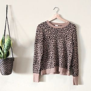 A NEW DAY Leopard Print Pullover Sweater